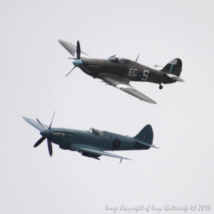 A Spitfire and a Hurricane from RAF Conningsby, Lincolnshire